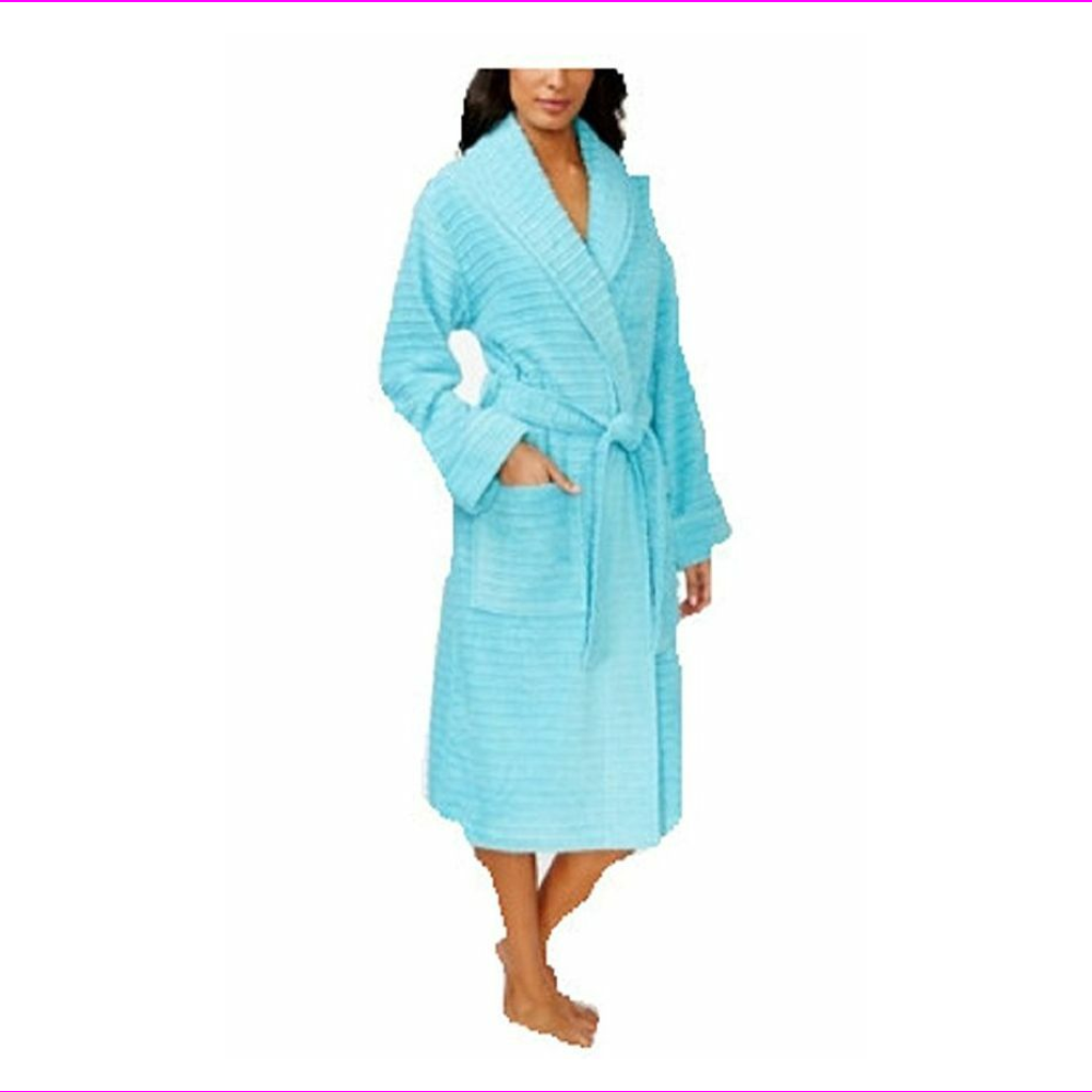 Charter Club Women/'s Textured Terry Robe Spa Easter Egg Blue 2XLarge