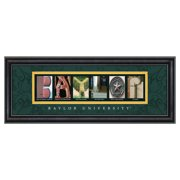 Framed Letter Wall Art - Baylor University - 20W x 8H in.
