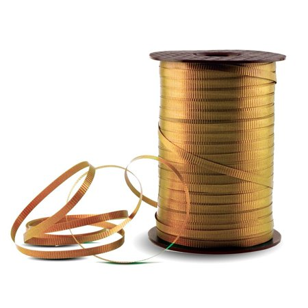 Gold Crimped Curling Ribbon - 500 Yards, Sold and fulfilled by Windy City Novelties By Windy City Novelties