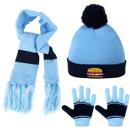 Allcaca - Kids Winter Hat-Allcaca 3 Pieces set Baby Girls Boys Winter Hat  Set Scarf Kids Knitted Hat Scarf Gloves for Kids - Walmart.com 6eb5f717734