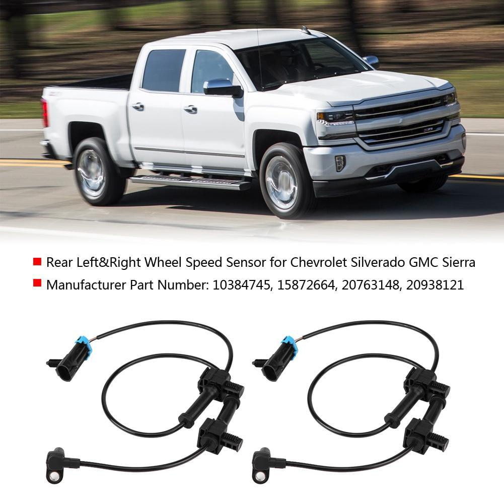 Right ABS Wheel Speed Sensor For Chevrolet Silverado GMC Sierra 2pcs Rear Left