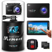 VanTop 4K Action Camera 20MP Moment 4 Underwater Waterproof Camera with EIS, Touch Screen, Remote, 170° Wide Angle WiFi Sports Cam with 2 Batteries and GoPro Accessories Kit - Best Reviews Guide