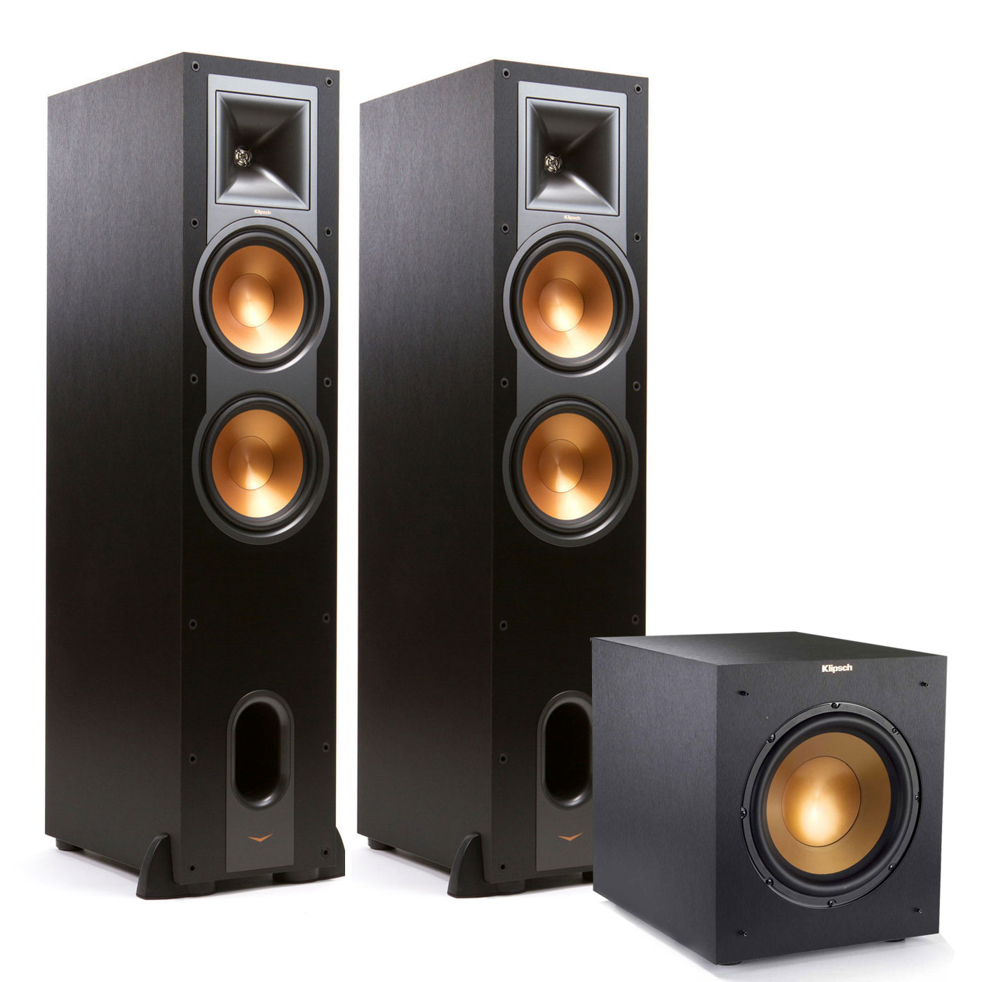 "Klipsch R28F Reference Floorstanding Speaker Pair w  R10SWi 10"" Wireless Sub by Klipsch"