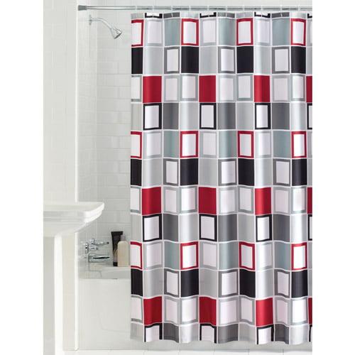 mainstays aperture fabric shower curtain - walmart