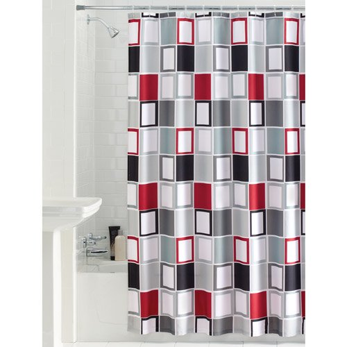 Mainstays Aperture Fabric Shower Curtain Walmart Com