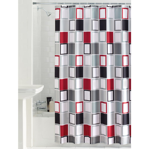 Nice Mainstays Aperture Fabric Shower Curtain
