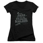 The Blues Brothers Its Dark Juniors V-Neck Shirt