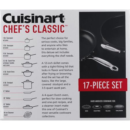 Cuisinart Chef's Classic Hard Anodized Non-stick 17 Piece Cookware Set, 66-17