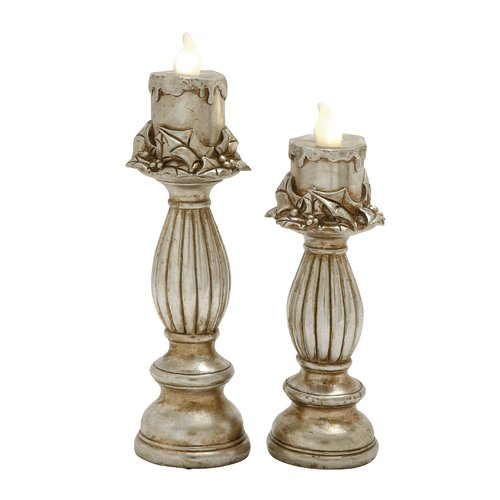 Woodland Imports 2 Piece Candlestick by Benzara Inc