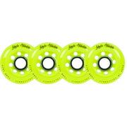 Labeda Inline Roller Hockey Skate Wheels Addiction Yellow 80mm SET OF 4