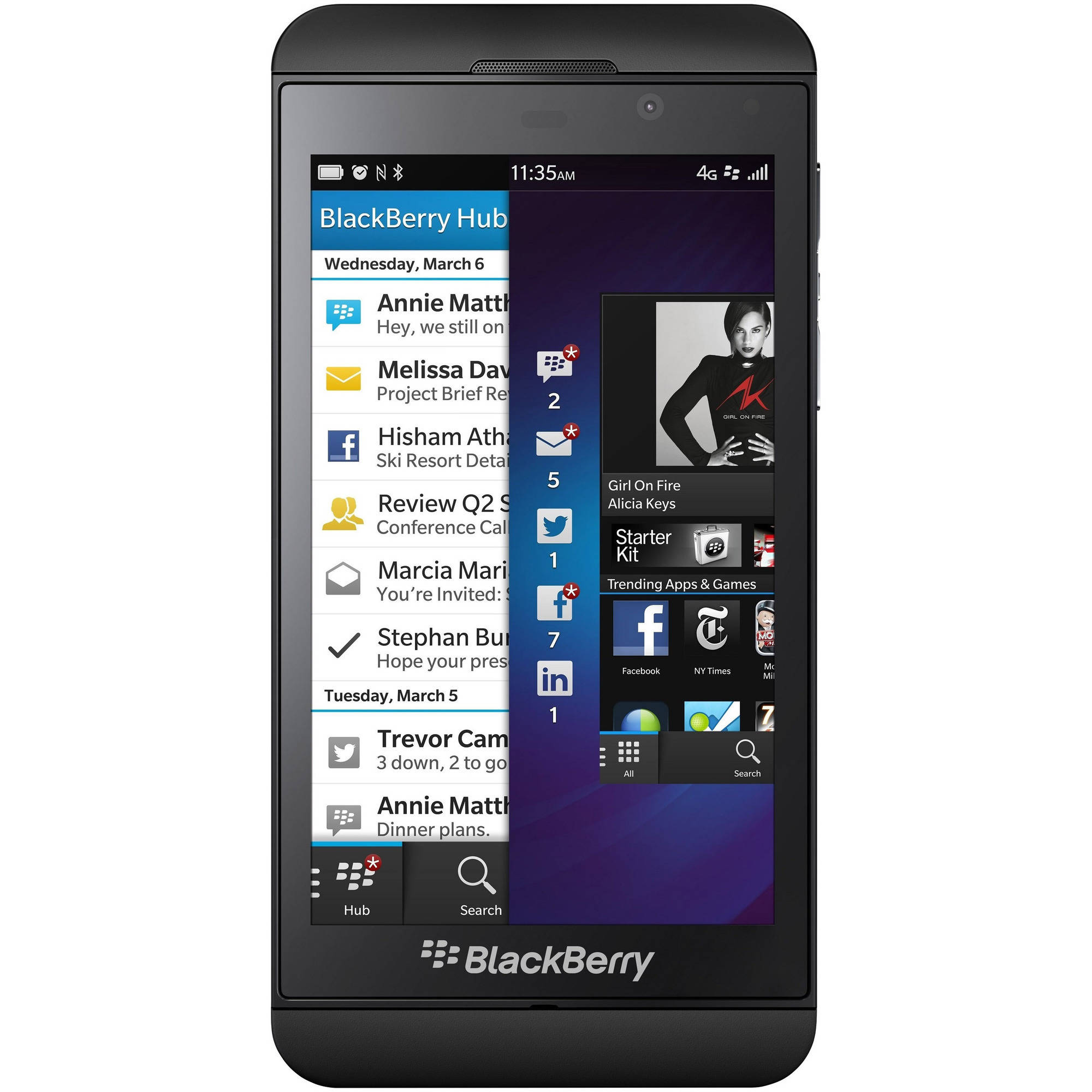 BlackBerry Z10 STL100-3 16GB GSM 4G LTE OS 10 Smartphone (Unlocked)