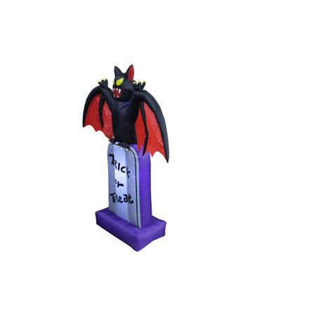 The Holiday Aisle Halloween Inflatable Bat on Tombstone (Halloween Bat Crafts)