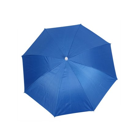 Outdoor Fishing Anti UV Elastic Headband Foldable Umbrella Hat Blue 66cm Dia - Ubrella Hat