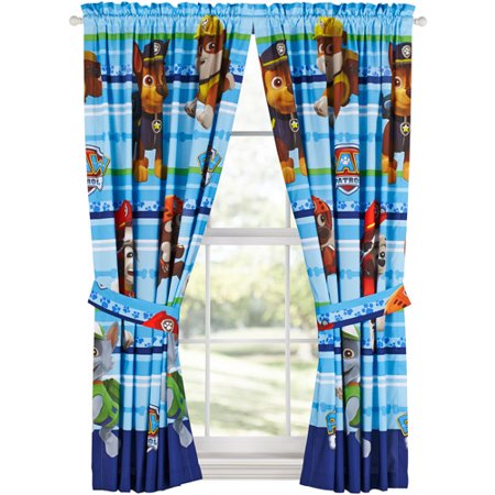 Paw Patrol Puppy Dog Fun Kids Bedroom Curtains, 1 Each