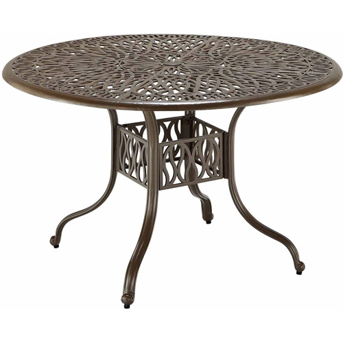 Home Styles Floral Blossom Taupe Dining Table, 48""