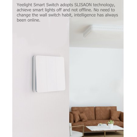 Yeelight Wirelessly Smarts Switch 16A Light Controller Compitable with Mijia Mi Home AC250V/16A Triple Button - image 7 de 7