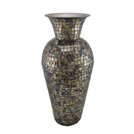 Colorful Mosaic Glass Tile Tall Ceramic Vase 19 Inch From 6999