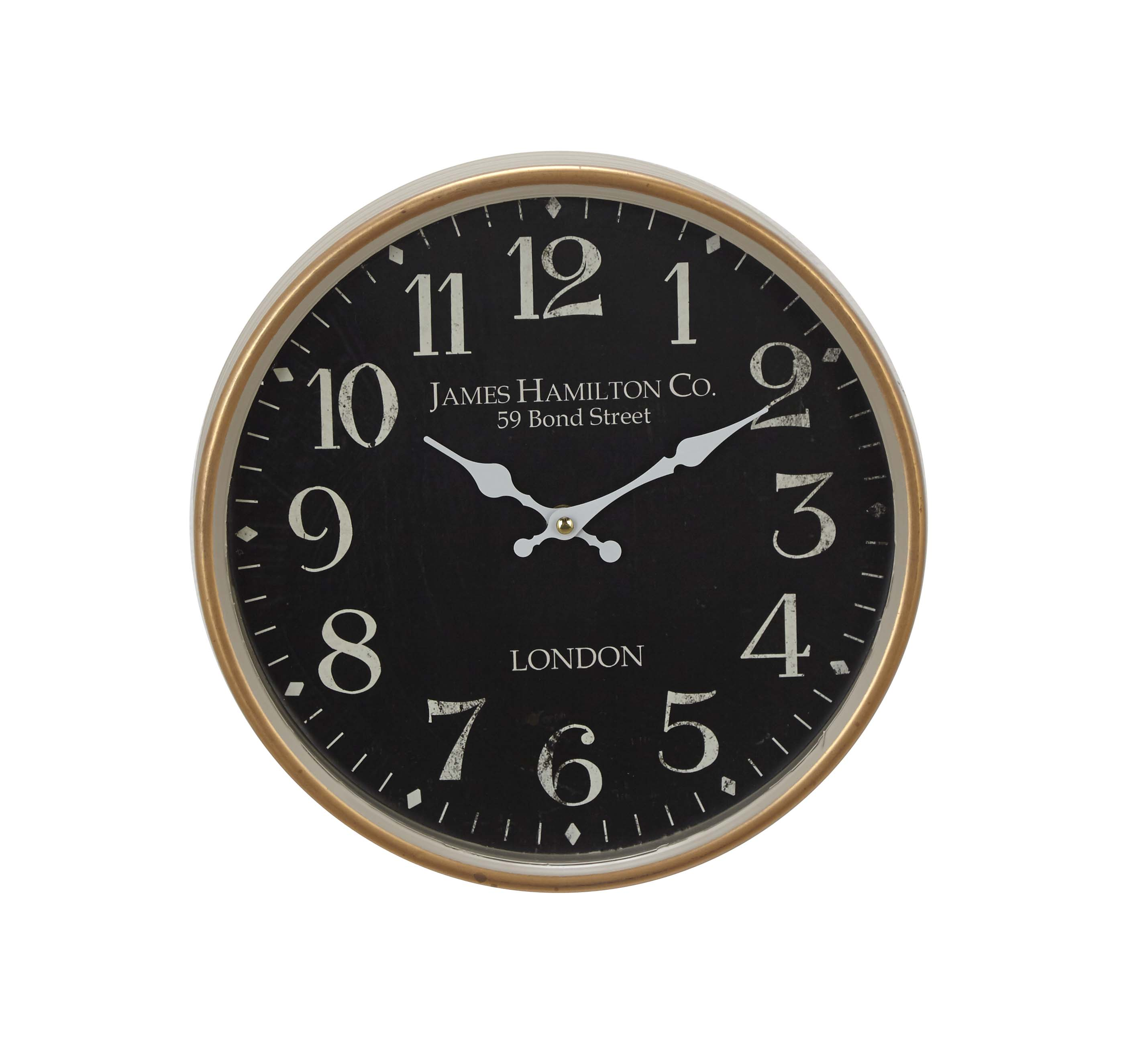 Decmode 12 Inch Contemporary Metal London Inspired Vintage