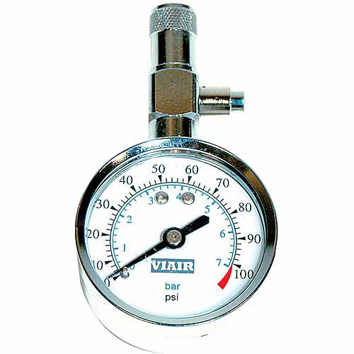 "VIAIR 2.0"" Tire Gauge, 0 to 100 PSI"