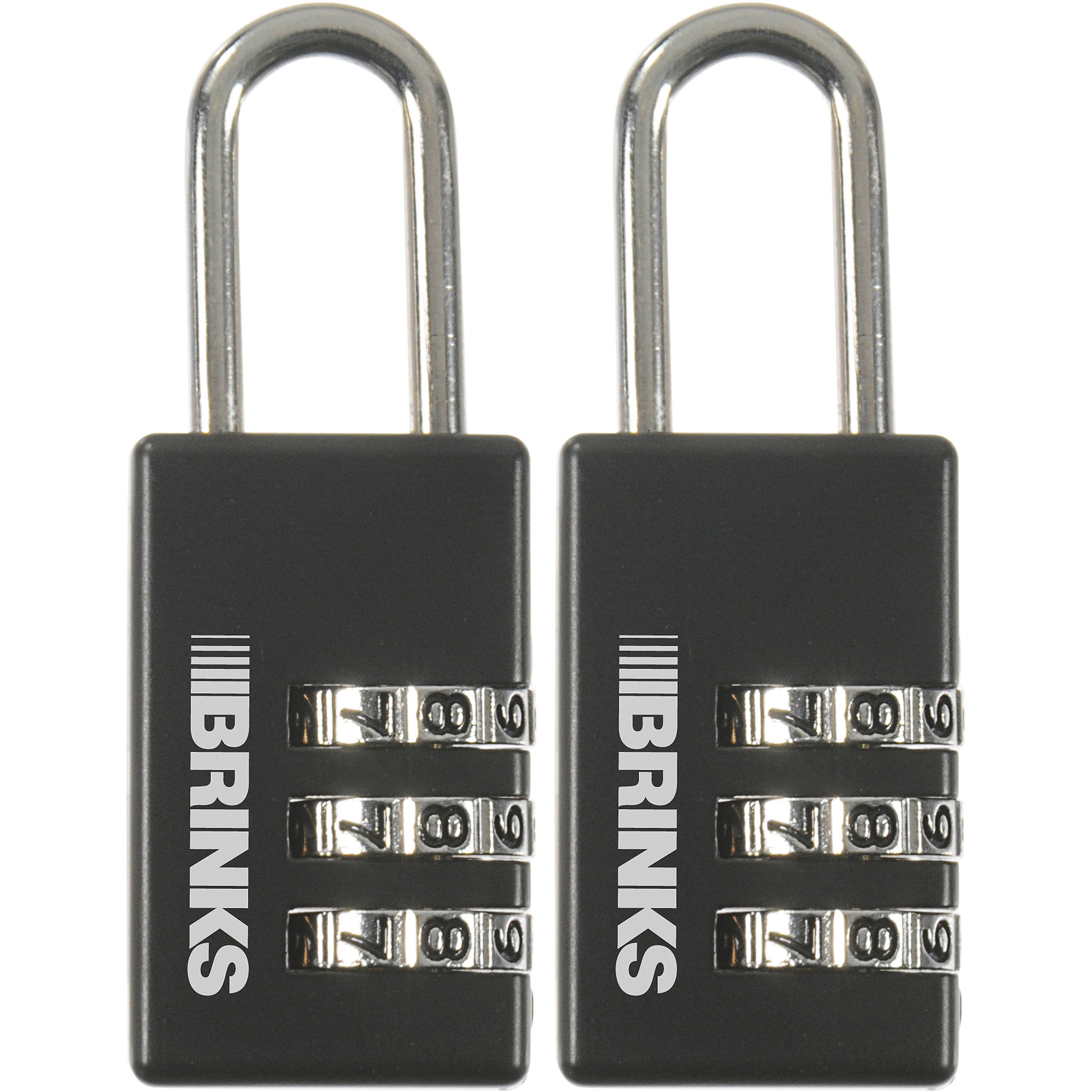 Brinks 22mm Resettable Combination Sport Padlock, 2-Pack