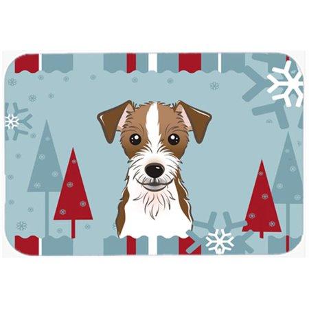 Carolines Treasures BB1698MP Winter Holiday Jack Russell Terrier Mouse Pad, Hot Pad & Trivet - image 1 of 1