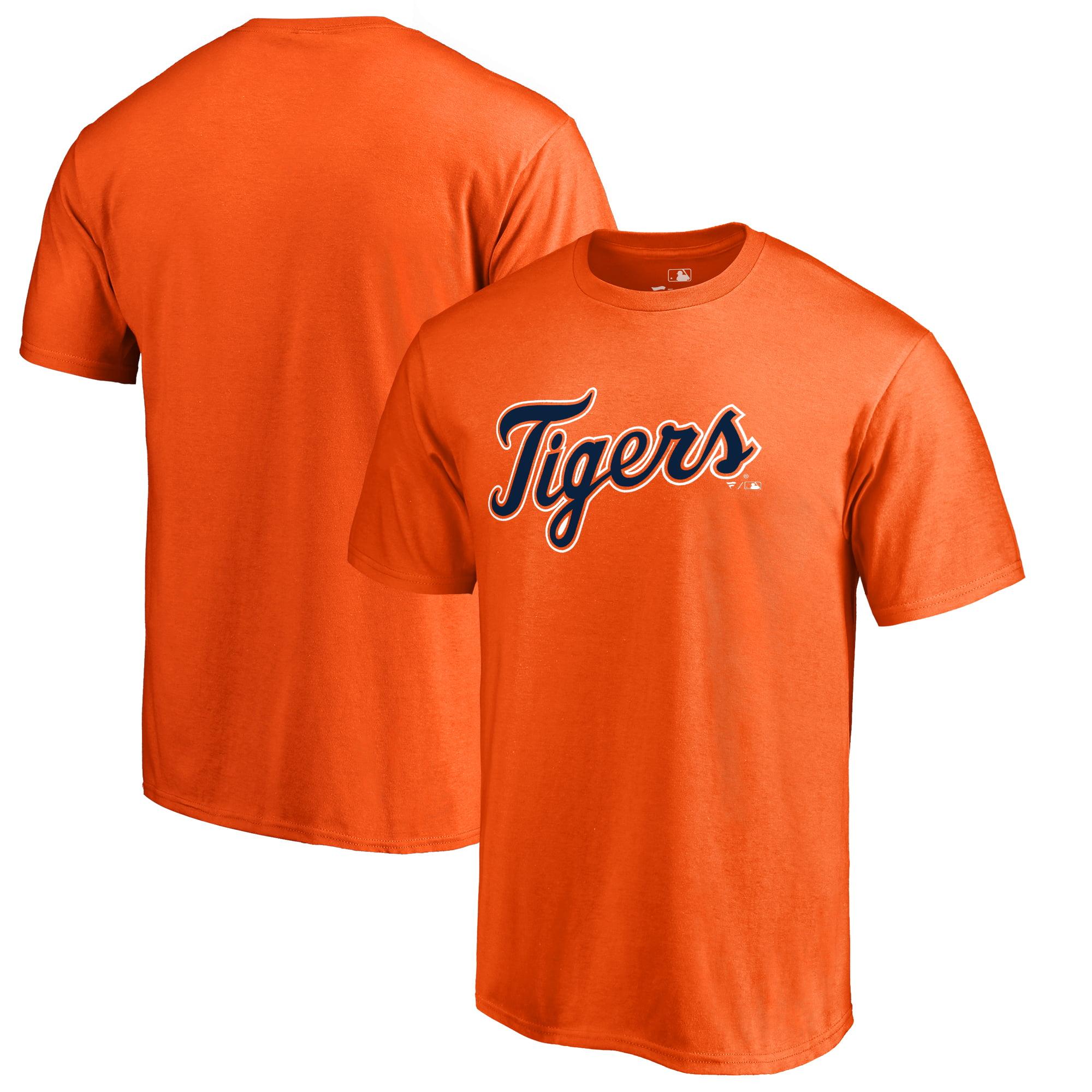 Detroit Tigers Fanatics Branded Big & Tall Team Wordmark T-Shirt - Orange