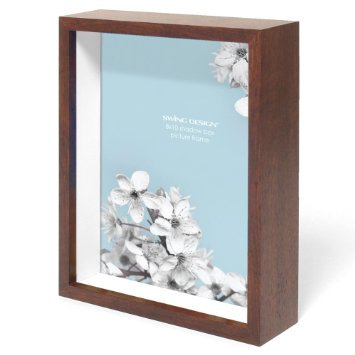 Swing Design Chroma Shadow Box Frame 8 By 10 Inch Walnut Walmartcom