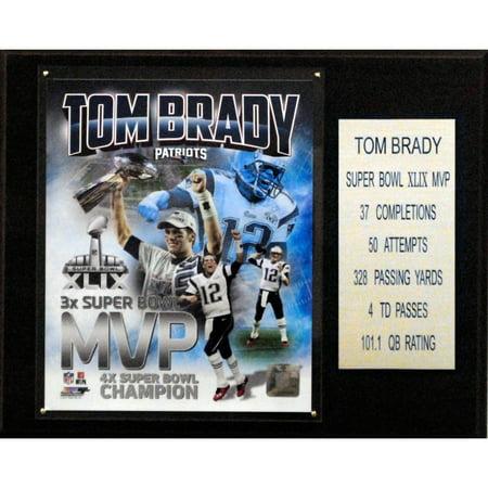 C Collectables Nfl 12X15 Tom Brady New England Patriots Super Bowl Xlix Mvp Plaque