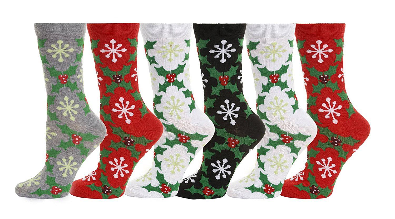 Ladies Fun Gift Novelty Soft Brushed Stripes Toe Socks One Size 4-7 Xmas Gift
