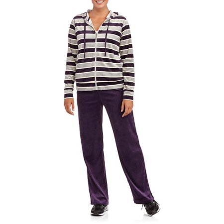 a32f8f92bbfbb Danskin Now - Women's Velour Hoodie and Pants Tracksuit - Walmart.com