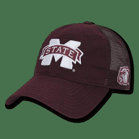 NCAA MSU Mississippi State U Bulldogs Curved Bill Relaxed Trucker Caps Hats - Msu Bulldogs