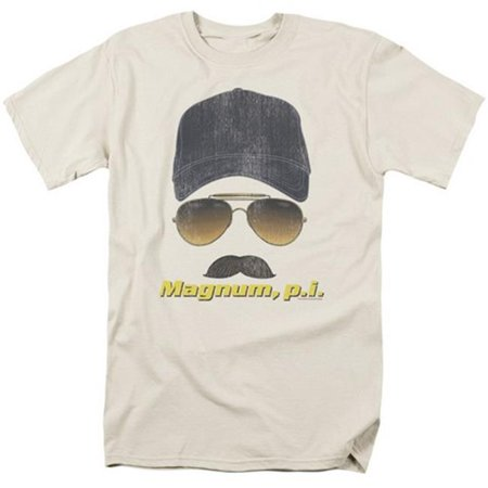Trevco Magnum Pi-Geared Up Short Sleeve Adult 18-1 Tee, Cream - Large
