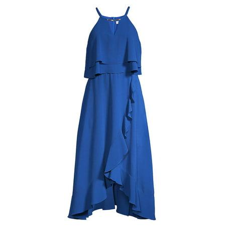 Popover Ruffle Halter Dress (Chain Necklace Halter Dress)