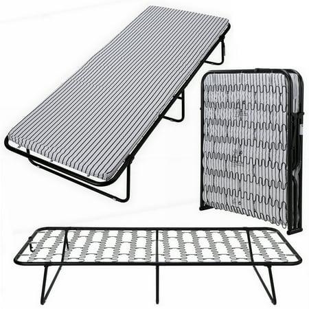 Homegear Portable Heavy Duty Steel Frame Folding Twin Guest Bed ...