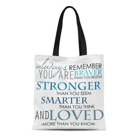 ASHLEIGH Canvas Tote Bag Name Always Remember You Are the Best Reusable Handbag Shoulder Grocery Shopping