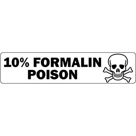 10% Formalin Poison Medical Healthcare Labels - 500 Labels Per Roll, 500 Labels Per roll By - Halloween Labels Poison