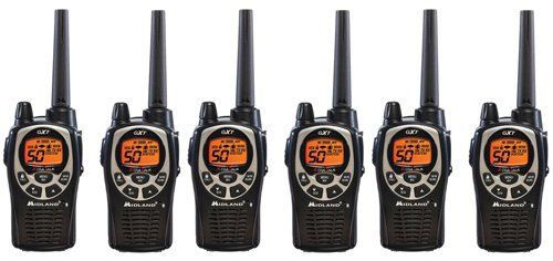 Midland GXT1000VP4 36_Mile JIS4 Waterproof 50_Channel FRS_GMRS Two_Way Radio _6 Pack _ by Midland