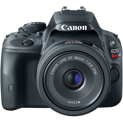 Canon Black EOS Rebel SL1 World's Smallest Digital SLR Camera with 18 Megapixels and 18-55mm Lens Included