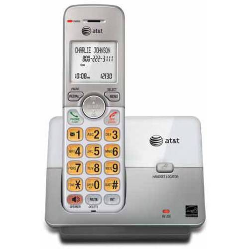 AT&T EL51103 DECT 6.0 Phone with Caller ID/Call Waiting, 1 Cordless Handset, Silver