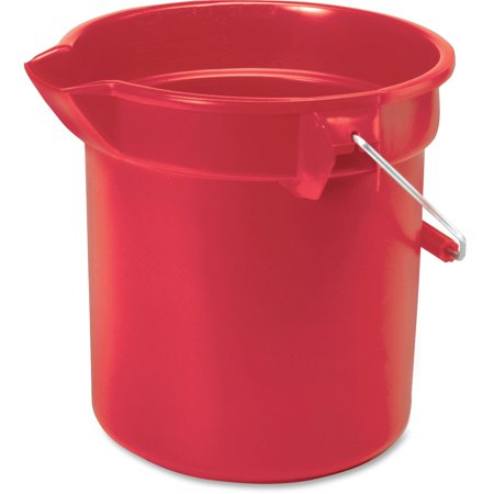 - Rubbermaid Commercial, RCP261400RD, Brute 14-quart Round Bucket, 1 Each, Chrome,Nickel,Red