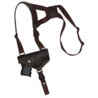 Barsony Right Brown Shoulder Holster Size 17 Beretta CZ EAA Ruger Springfield Sig Compact 9 40 45