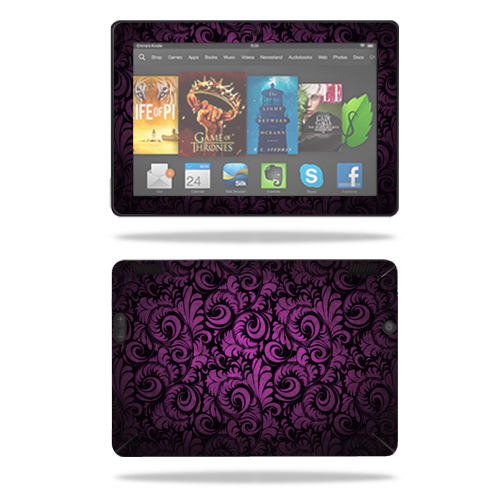 """Mightyskins Protective Skin Decal Cover for Amazon Kindle Fire HDX 7"""" Tablet (2013) wrap sticker skins Purple Style"""