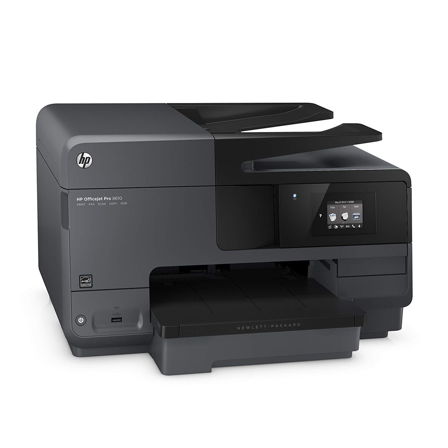 Hewlett-Packard OfficeJet Pro 8610 (A7F64A) All-in-One Wireless Printer with Mobile Printing, Instant Ink ready.