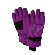 Aquarius Girls Purple Thinsulate Snow & Ski Gloves Wrist Strap