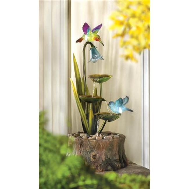 Zingz & Thingz 57070038 Hummingbirds Haven Outdoor Water Fountain with Lights by Zingz & Thingz