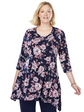 f6c619f8231 Black Womens Plus Blouses   Shirts - Walmart.com