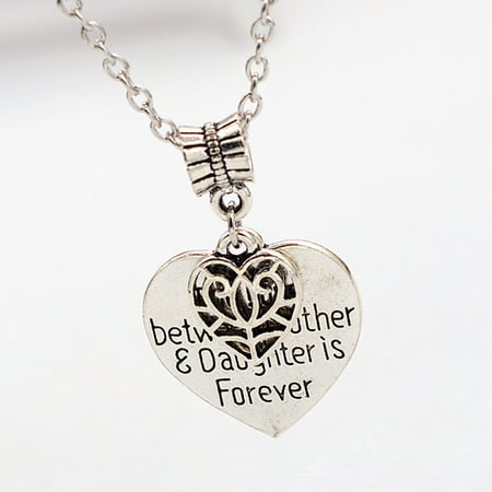 The Love Between Mother and Daughter Is Forever Heart Charm Necklace Mom Daughter Jewelry for Best Mother's Day Party Gifts From (Best Gifts For Women)