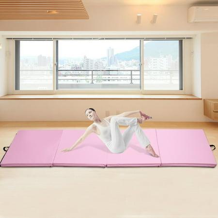 "4'x10'x2"" Gymnastics Mat Thick Folding Panel Aerobics Exercise Gym Pink - image 1 de 7"