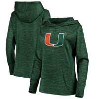 Miami Hurricanes Fanatics Branded Women's Essential Primary Logo Streak Fleece Hoodie - Heathered Green