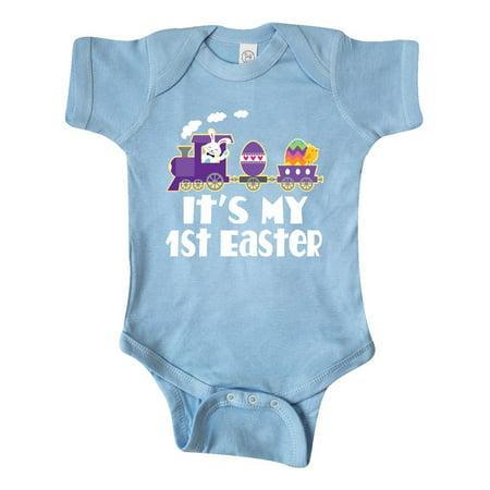 Babys 1st Easter Bunny Rabbit Train Infant Creeper (Easter Bunny Onesie)